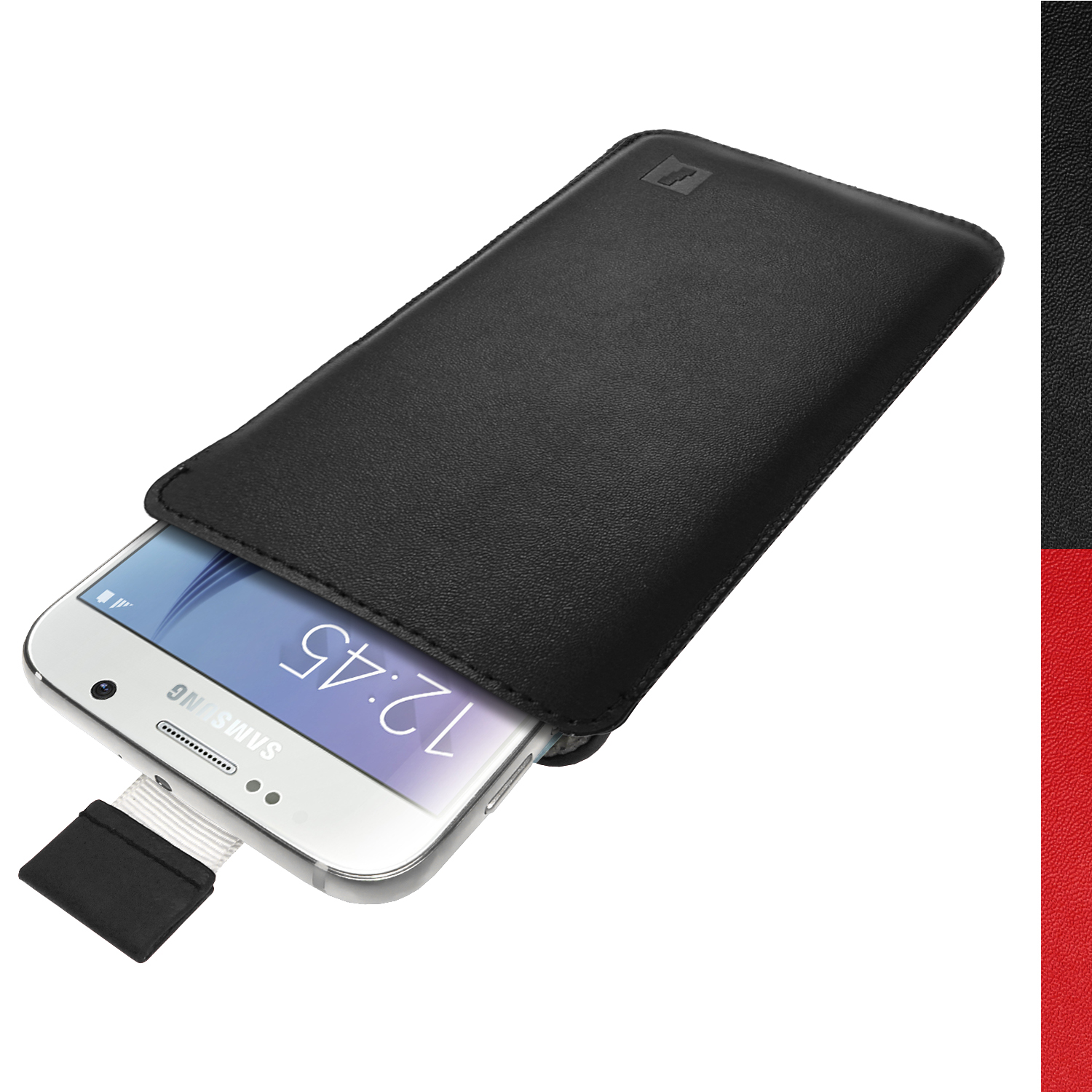 Igadgitz black premium pouch sleeve leather case cover for for Housse samsung galaxy s5