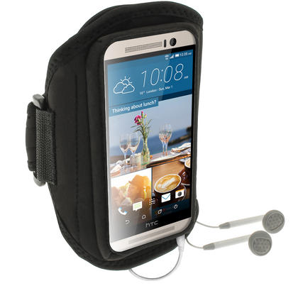 iGadgitz Water Resistant Running Jogging Gym Sports Armband for HTC One M9 (2015) Thumbnail 3