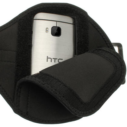 iGadgitz Water Resistant Running Jogging Gym Sports Armband for HTC One M9 (2015) Thumbnail 4