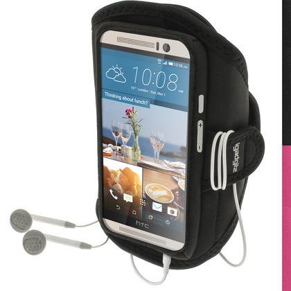iGadgitz Water Resistant Running Jogging Gym Sports Armband for HTC One M9 (2015) Thumbnail 1