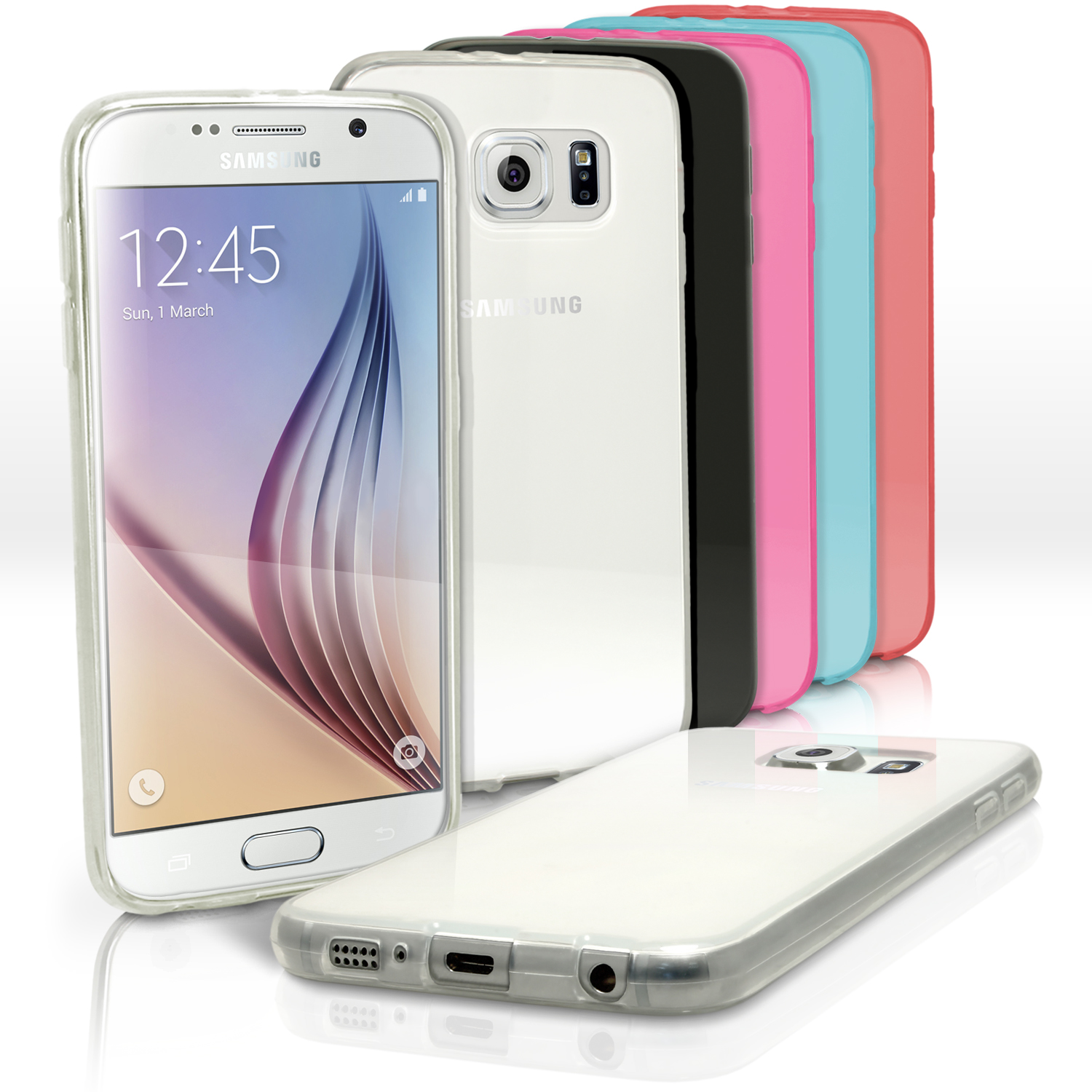 iGadgitz Glossy TPU Gel Skin Case Cover for Samsung Galaxy S6 SM-G920F + Screen Protector