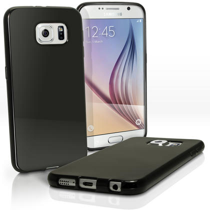 iGadgitz Glossy TPU Gel Skin Case Cover for Samsung Galaxy S6 SM-G920F + Screen Protector Thumbnail 4