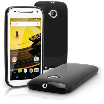 iGadgitz Glossy TPU Gel Skin Case Cover for Motorola Moto E 2nd Generation 2015 XT1524 + Screen Protector Thumbnail 2