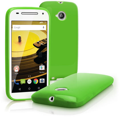 iGadgitz Glossy TPU Gel Skin Case Cover for Motorola Moto E 2nd Generation 2015 XT1524 + Screen Protector Thumbnail 4