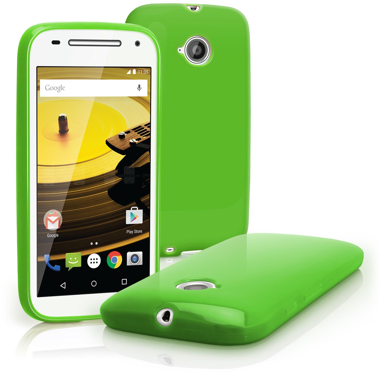cheaper 735ba 51aa6 Glossy TPU Gel Case for Motorola Moto E 2nd Gen XT1524 Skin Cover + Screen  Prot