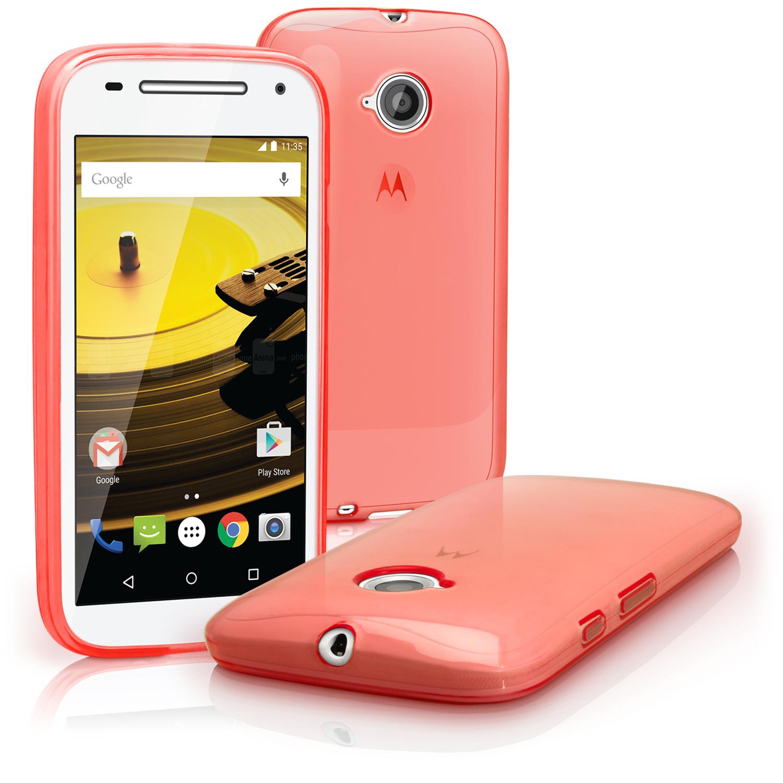 cheaper 1d451 2c80e Glossy TPU Gel Case for Motorola Moto E 2nd Gen XT1524 Skin Cover + Screen  Prot