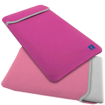 "iGadgitz Pink and Baby Pink Reversible Neoprene Sleeve Case Cover for New Apple MacBook 12"" (2015) Thumbnail 1"