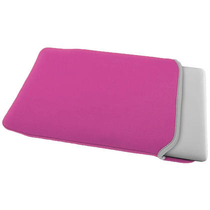 "iGadgitz Pink and Baby Pink Reversible Neoprene Sleeve Case Cover for New Apple MacBook 12"" (2015) Thumbnail 3"