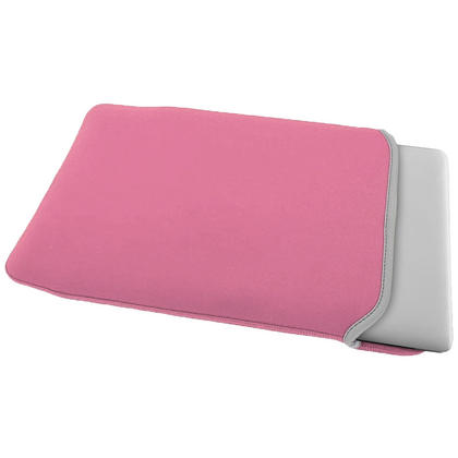 "iGadgitz Pink and Baby Pink Reversible Neoprene Sleeve Case Cover for New Apple MacBook 12"" (2015) Thumbnail 4"