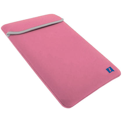 "iGadgitz Pink and Baby Pink Reversible Neoprene Sleeve Case Cover for New Apple MacBook 12"" (2015) Thumbnail 6"