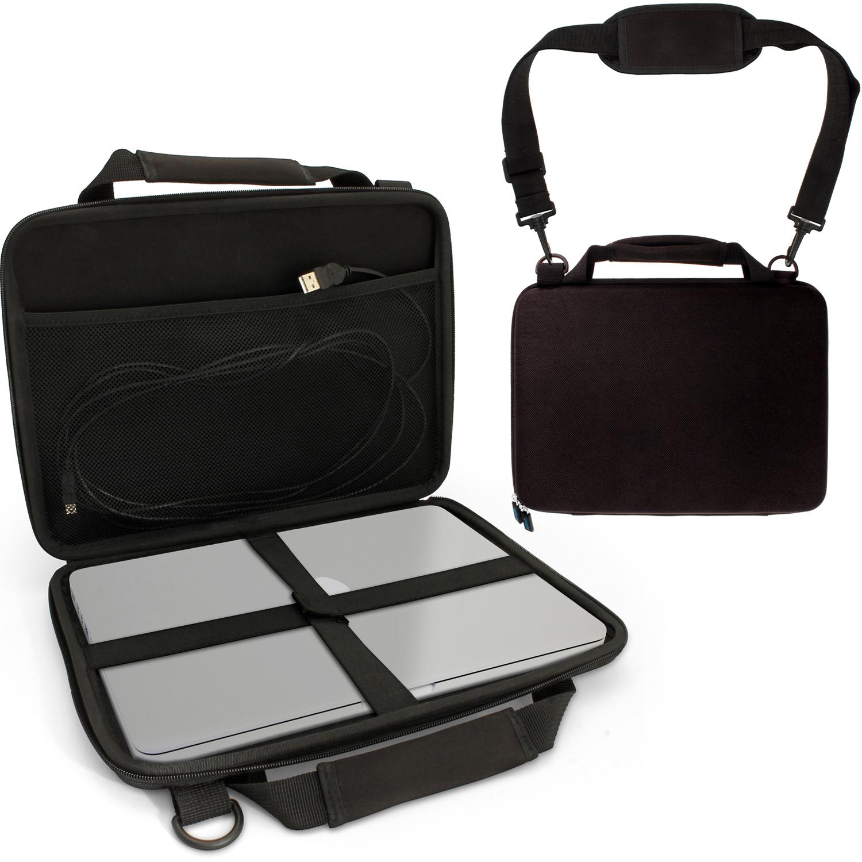 "iGadgitz Black EVA Hard Travel Case Cover for New Apple MacBook 12"" 2015 with Carry Handle & Detachable Shoulder Strap"