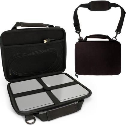 "iGadgitz Black EVA Hard Travel Case Cover for New Apple MacBook 12"" 2015 with Carry Handle & Detachable Shoulder Strap  Thumbnail 1"