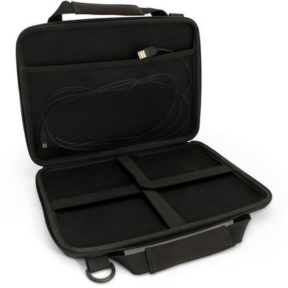 "iGadgitz Black EVA Hard Travel Case Cover for New Apple MacBook 12"" 2015 with Carry Handle & Detachable Shoulder Strap  Thumbnail 3"