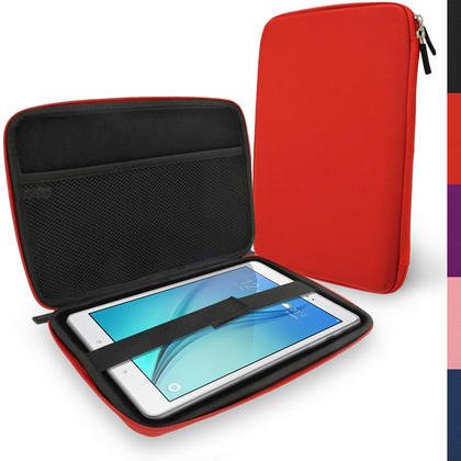 "iGadgitz Red EVA Hard Carry Case for Samsung Galaxy Tab A 9.7"" SM-T550 Sleeve Cover Pouch Thumbnail 1"