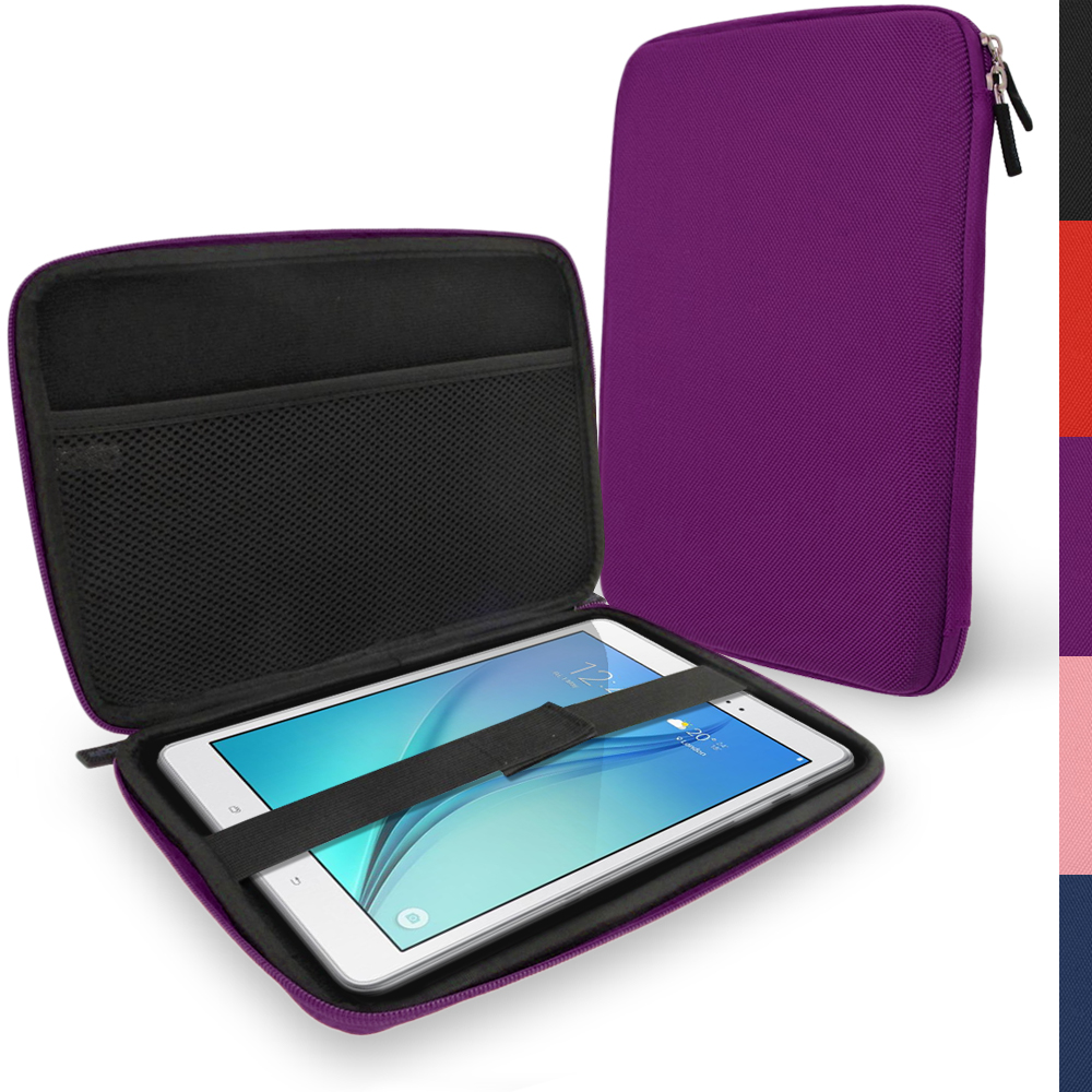 "iGadgitz Purple EVA Hard Carry Case for Samsung Galaxy Tab A 9.7"" SM-T550 Sleeve Cover Pouch"