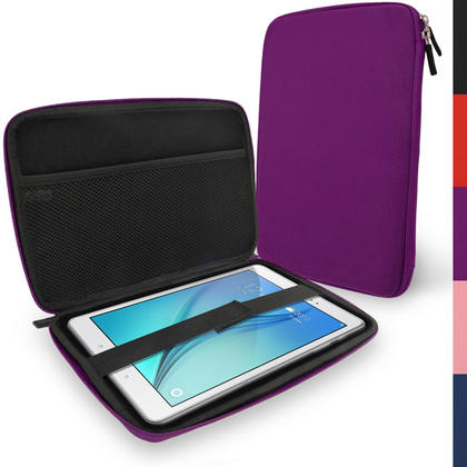 "iGadgitz Purple EVA Hard Carry Case for Samsung Galaxy Tab A 9.7"" SM-T550 Sleeve Cover Pouch Thumbnail 1"