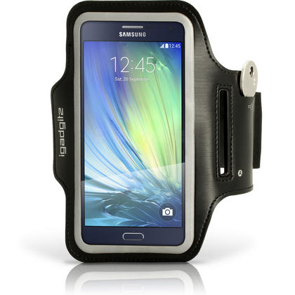 iGadgitz Reflective Sports Jogging Gym Armband for Samsung Galaxy A3 SM-A300F with Key Slot Thumbnail 1