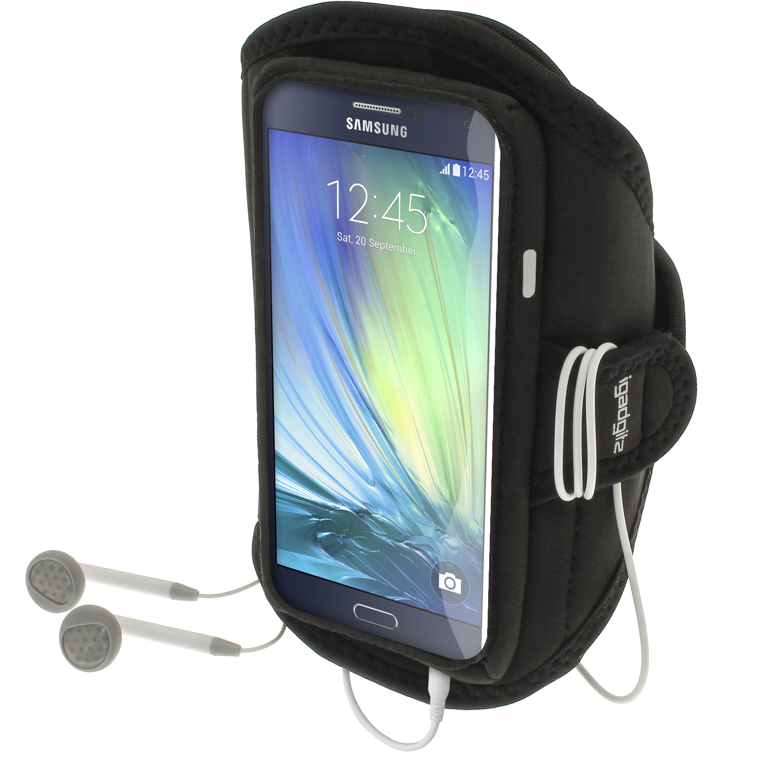 iGadgitz Water Resistant Running Jogging Gym Sports Armband for  Samsung Galaxy A3 SM-A300