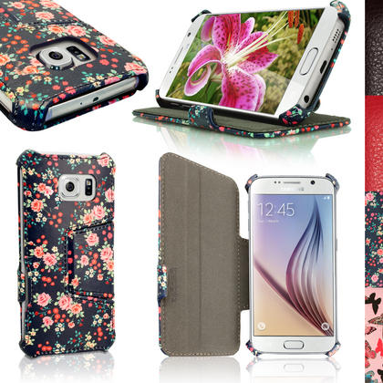 iGadgitz Premium Folio PU Leather Case Cover for Samsung Galaxy S6 SM-G920F + Viewing Stand + Screen Protector Thumbnail 3