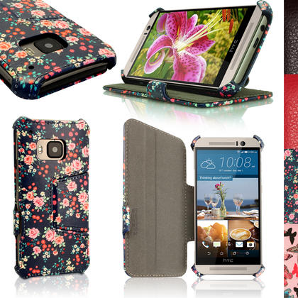 iGadgitz Premium Folio PU Leather Case Cover for HTC One M9 (2015) + Sleep Wake + Viewing Stand + Screen Protector Thumbnail 3