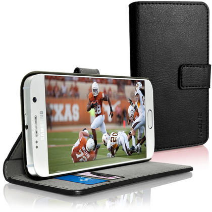 iGadgitz Wallet Flip PU Leather Case Cover for Samsung Galaxy S6 SM-G920 + Stand + Magnetic Closure + Screen Protector Thumbnail 2