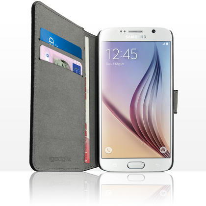 iGadgitz Wallet Flip PU Leather Case Cover for Samsung Galaxy S6 SM-G920 + Stand + Magnetic Closure + Screen Protector Thumbnail 3
