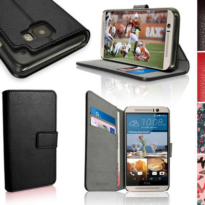 iGadgitz Wallet Flip PU Leather Case Cover for HTC One M9 (2015) + Stand + Magnetic Closure + Screen Protector Thumbnail 1