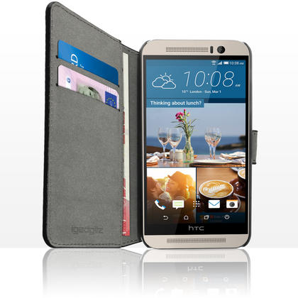 iGadgitz Wallet Flip PU Leather Case Cover for HTC One M9 (2015) + Stand + Magnetic Closure + Screen Protector Thumbnail 3