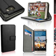 iGadgitz Wallet Flip PU Leather Case Cover for HTC One M9 (2015) + Stand + Magnetic Closure + Screen Protector