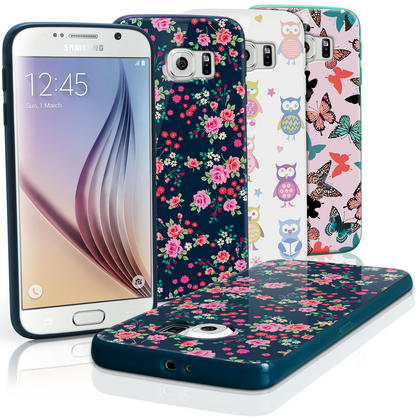 "iGadgitz ""Designer Collection"" Glossy TPU Gel Skin Case Cover for Samsung Galaxy S6 SM-G920 + Screen Protector Thumbnail 1"