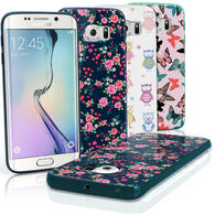 "iGadgitz ""Designer Collection"" Glossy TPU Gel Skin Case Cover for Samsung Galaxy S6 Edge SM-G925F + Screen Protector"