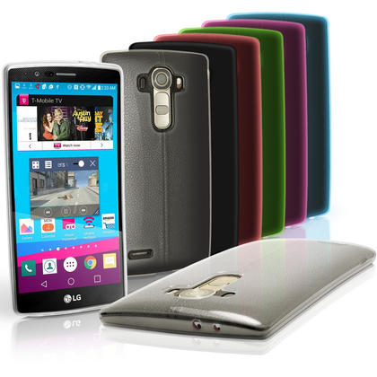 iGadgitz Glossy TPU Gel Skin Case Cover for LG G4 H815 2015 + Screen Protector Thumbnail 1