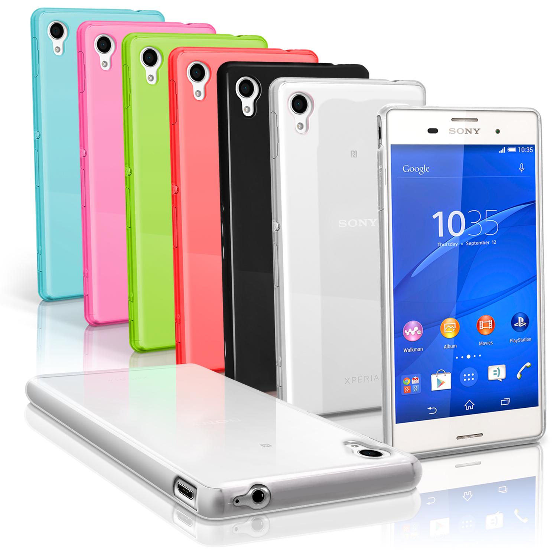 iGadgitz Glossy TPU Gel Skin Case Cover for Sony Xperia M4 Aqua 2015 E2303 + Screen Protector