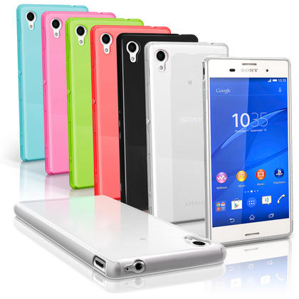 iGadgitz Glossy TPU Gel Skin Case Cover for Sony Xperia M4 Aqua 2015 E2303 + Screen Protector Thumbnail 1