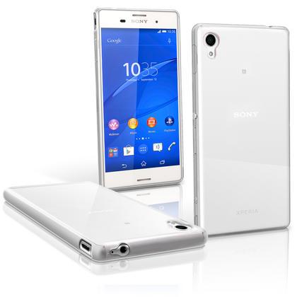 iGadgitz Glossy TPU Gel Skin Case Cover for Sony Xperia M4 Aqua 2015 E2303 + Screen Protector Thumbnail 2