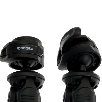 iGadgitz Lightweight Large Universal Flexible Foam Mini Tripod for SLR DSLR Cameras with Quick Release Plate ? Black Thumbnail 9