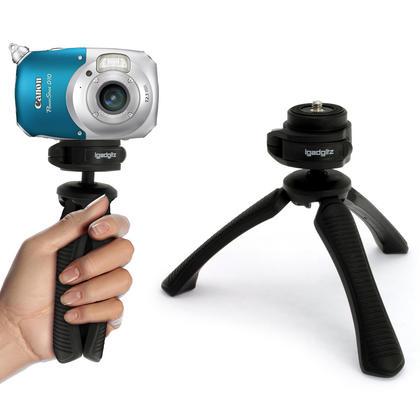 iGadgitz Lightweight Large Universal Flexible Foam Mini Tripod for SLR DSLR Cameras with Quick Release Plate ? Black Thumbnail 12