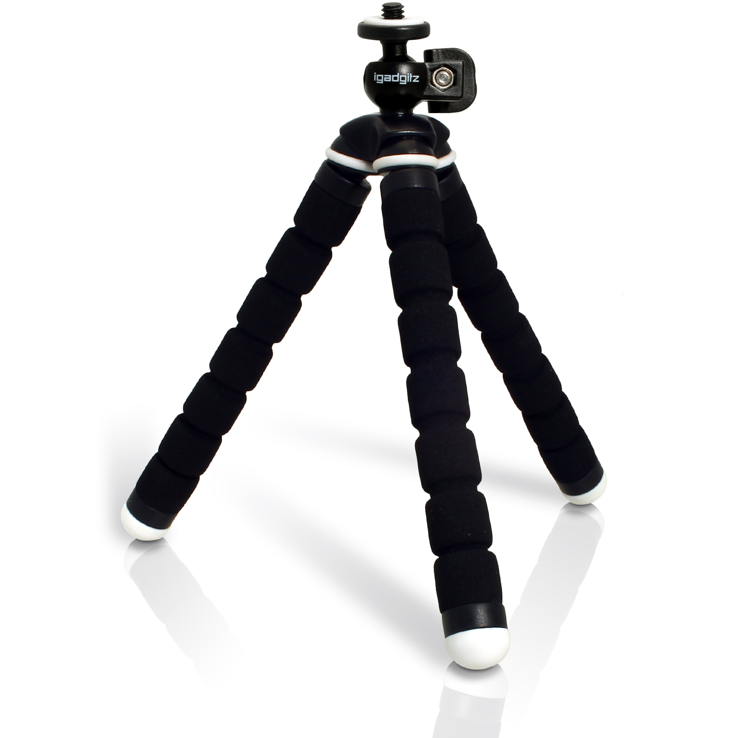 iGadgitz Lightweight Small Universal Flexible Foam Mini Tripod for Compact Cameras ? Black