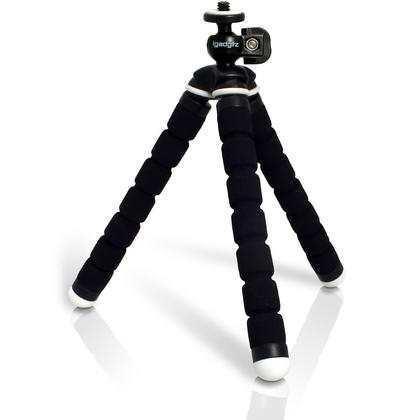 iGadgitz Lightweight Small Universal Flexible Foam Mini Tripod for Compact Cameras ? Black Thumbnail 1