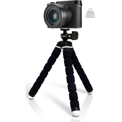 iGadgitz Lightweight Small Universal Flexible Foam Mini Tripod for Compact Cameras ? Black Thumbnail 3