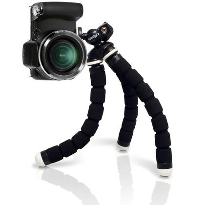 iGadgitz Lightweight Small Universal Flexible Foam Mini Tripod for Compact Cameras ? Black Thumbnail 4