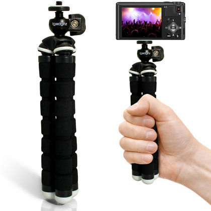 iGadgitz Lightweight Small Universal Flexible Foam Mini Tripod for Compact Cameras ? Black Thumbnail 7