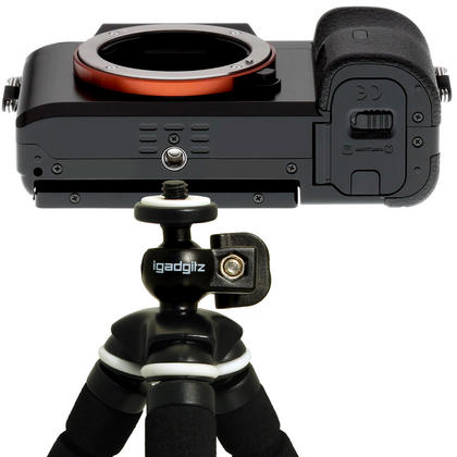 iGadgitz Lightweight Small Universal Flexible Foam Mini Tripod for Compact Cameras ? Black Thumbnail 8