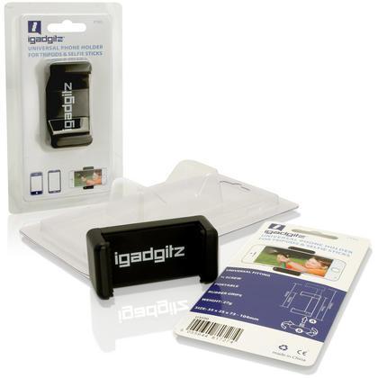 iGadgitz Universal Smartphone Holder Mount Bracket Adapter for Tripods and Selfie Sticks Thumbnail 2