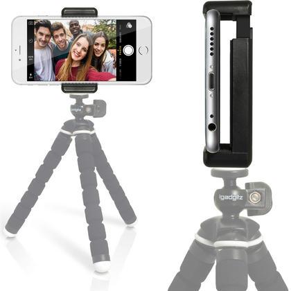 iGadgitz Universal Smartphone Holder Mount Bracket Adapter for Tripods and Selfie Sticks Thumbnail 4