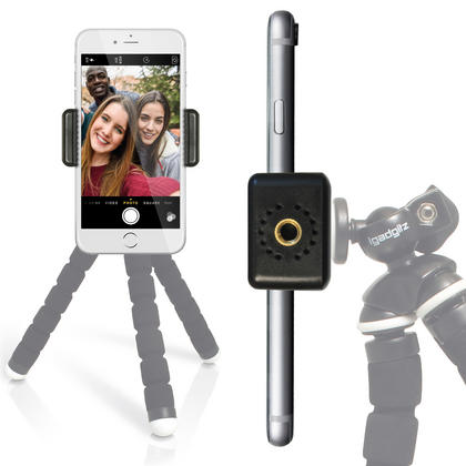 iGadgitz Universal Smartphone Holder Mount Bracket Adapter for Tripods and Selfie Sticks Thumbnail 5