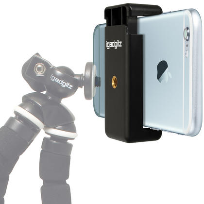 iGadgitz Universal Smartphone Holder Mount Bracket Adapter for Tripods and Selfie Sticks Thumbnail 6