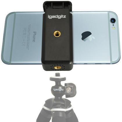 iGadgitz Universal Smartphone Holder Mount Bracket Adapter for Tripods and Selfie Sticks Thumbnail 7