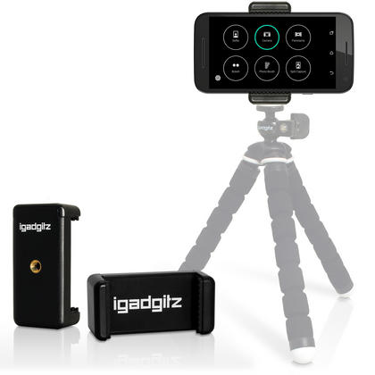 iGadgitz Universal Smartphone Holder Mount Bracket Adapter for Tripods and Selfie Sticks Thumbnail 9