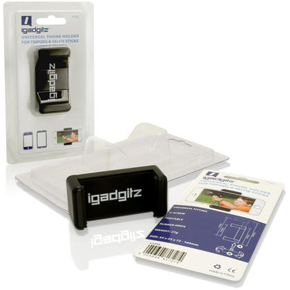 iGadgitz Universal Smartphone Holder Mount Bracket Adapter for Tripods and Selfie Sticks Thumbnail 10